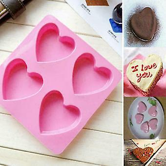 Heart-shaped Silicone Mold Fondant Cake Decor Chocolate Mould Baking Soap Icing