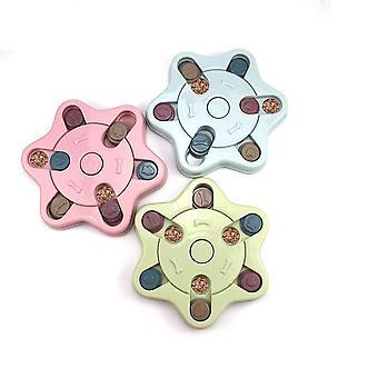 צעצועי כלב חינוכיים נגד קערת כלב חנק (כחול)
