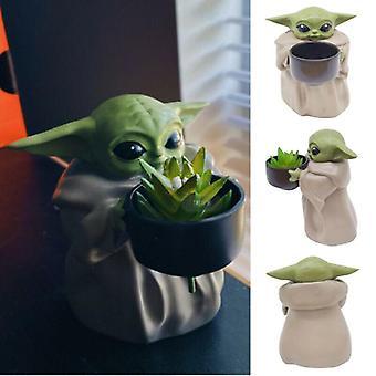 Star War The Mandalorian Baby Yoda Planter Flower Pot Figurine Creative Ornament