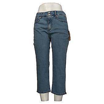 NYDJ Leggings Cool Embrace Skinny Crop avec fentes latérales bleues A377691