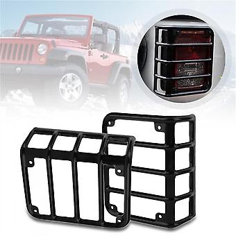 2pcs Auto Car Tails Light Rear Lamp Cover Guards For Jeep For Wrangler 07-16