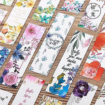 Vakre blomster med meldingsbokmerker
