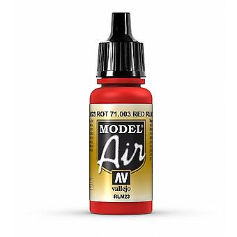 Vallejo Model Air 3 Red RLM23 - 17ml Acrylic Airbrush Paint