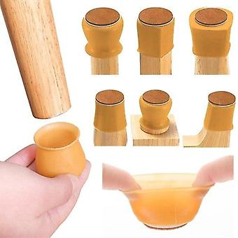 16Pcs silicon furniture leg protection cover table feet pad floor protector for chair leg floor protection anti-slip table legs