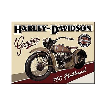 Harley Davidson Nostalgic Metal Magnet - Cracker Filler Gift