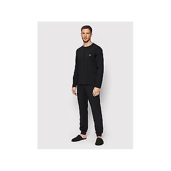Emporio Armani Bavlna s dlhým rukávom manžeta Pyžamová súprava