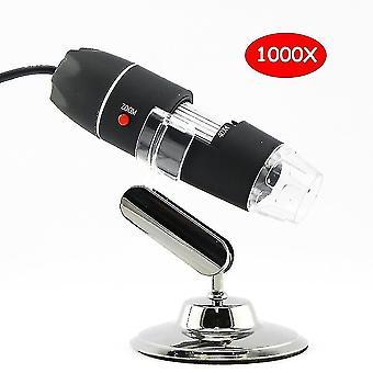 Telescopes 1000x digital usb microscope 8 led lights electronic microscope camera microscop