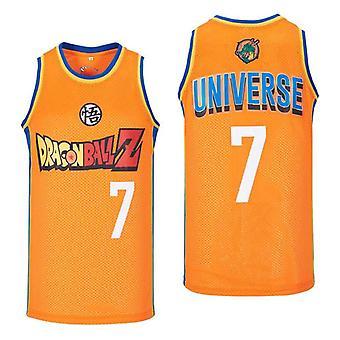 Men: n Dragon Ball Universe 7 koripallo jersey ommeltu koko S-xxl