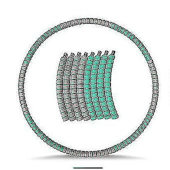 Утяжеленный хула-хуп для взрослых, упражнение для похудения Hula Ring с нержавеющим зеленым серым