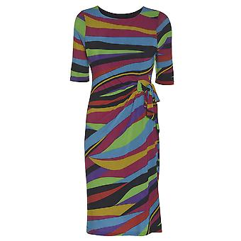 Wallis Multi Coloured Side Bow dress DR891-10
