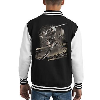 Nier Automata The Weight Of The World Kid's Varsity Jacket