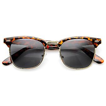 Polarized Classic Half Frame Semi-Rimless Horn Rimmed Sunglasses