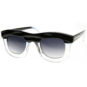 Stylish Unique Runway Fashion Bold Thick Frame Sunglasses