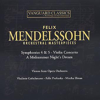 F. Mendelssohn - Mendelssohn: Orchestral Masterpieces [CD] USA import