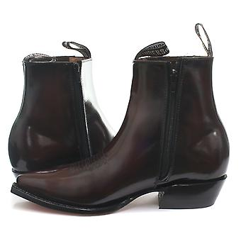 Grinders Austin Mens Western Cowboy Ankle Zip Boots  AND COLOURS