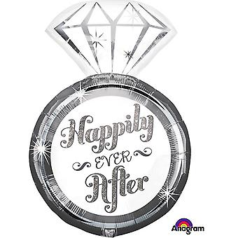 Anagram Happily Ever After Ring Supershape Balloon