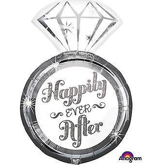 アナグラムは幸せに暮らしました Supershape バルーンをリングします。