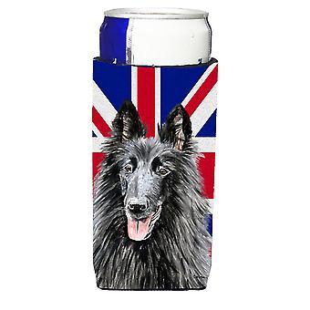 Belgischer Schäferhund mit englischen Union Jack britische Flagge Ultra Getränke Isolatoren