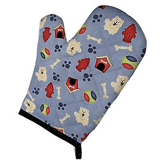 Carolines Treasures  BB2753OVMT Dog House Collection Chow Chow White Oven Mitt