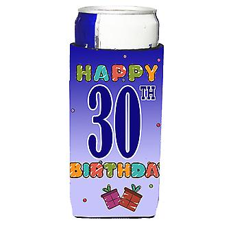 Happy 30th Birthday Ultra Beverage Insulators for slim cans