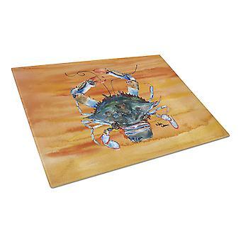 Carolines Treasures  8144LCB Crab  Glass Cutting Board Large