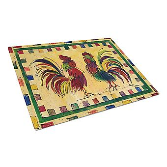 Carolines Treasures  8062LCB Rooster  Glass Cutting Board Large