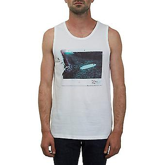 Volcom Burnt Sleeveless T-Shirt in Bianco