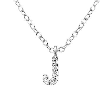 J - Crystal + 925 Sterling Silver Necklaces - W28575X
