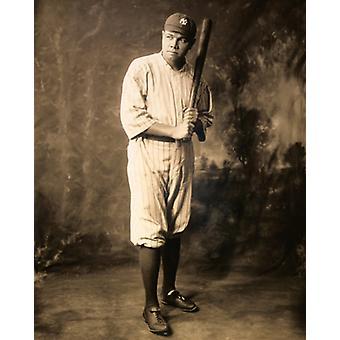 Babe Ruth Nueva York Yankees 1920 Poster Print por McMahan Foto archivo (8 x 10)