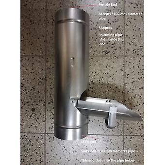 Regnvatten omkastare - 100 mm - metall - galvaniserat stål framrör - rännor