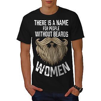 女性男性 BlackT シャツをひげなし |Wellcoda