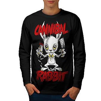 Canibal Men BlackLong Sleeve T-shirt | Wellcoda