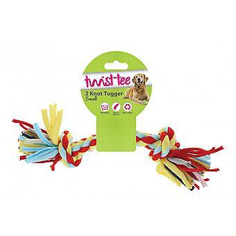 Jouet pour chien noeud 2 heureux Twist-Tee pour animaux de compagnie