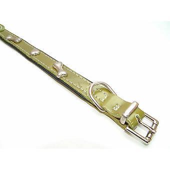 Vital Pet Products Bones Design Leather Dog Collar