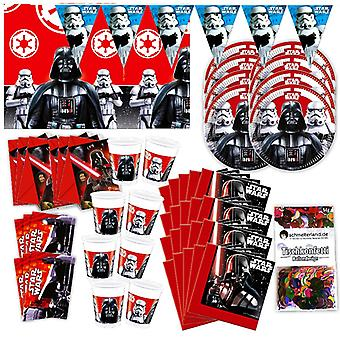 Star Wars oryginalne party box 57 - teilig ozdoba Darth Vader Star Wars party pakiet