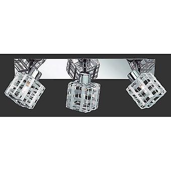 Trio Beleuchtung Gefängnis modernen Chrom Metall Spot