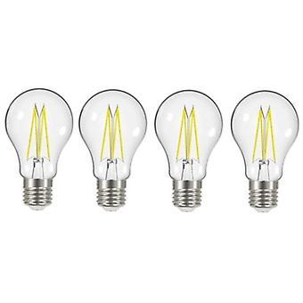 4 X Energizer 7.2W = 60W LED Filament GLS Light Bulb Lamp Vintage ES E27 Clear Edison Screw [Energy Class A+]