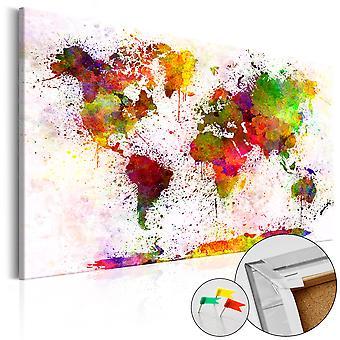 Afbeelding op kurk - Artistic World [Cork Map]
