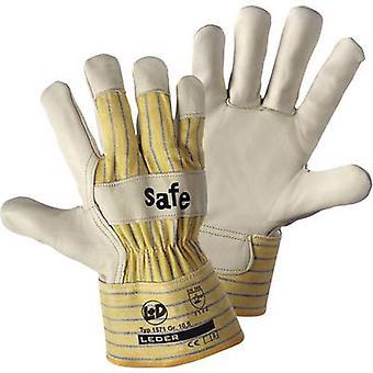 L+D worky SAFE 1571 Full-grain cowhide Protective glove Size (luvas): 10, XL EN 388 CAT II 1 Pair