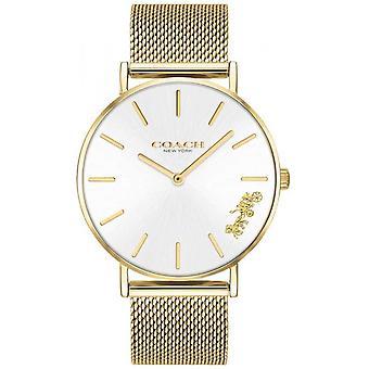 Coach Womens Perry Gold Mesh Bracelet 14503125 Watch