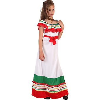 子供の衣装の女の子のためのメキシコのドレス