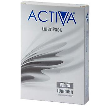 Activa compressão collants Collants forros branco X-Lge 10Mmhg 3