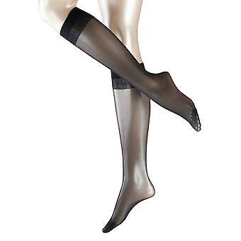 Falke Matte Deluxe 20 Denier Transparent Matte Knee High Tights - Black