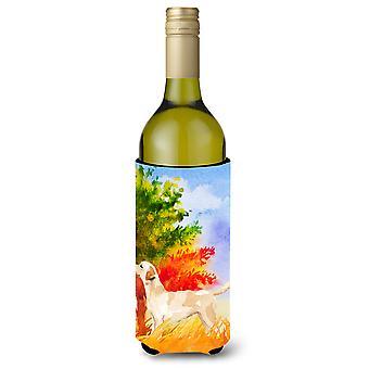Caduta del documentalista di Labrador giallo bottiglia di vino bevanda isolante Hugger