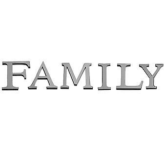 TRIXES en sens inverse le mot «Famille» 3D Wall Art famille décoration murales autocollant