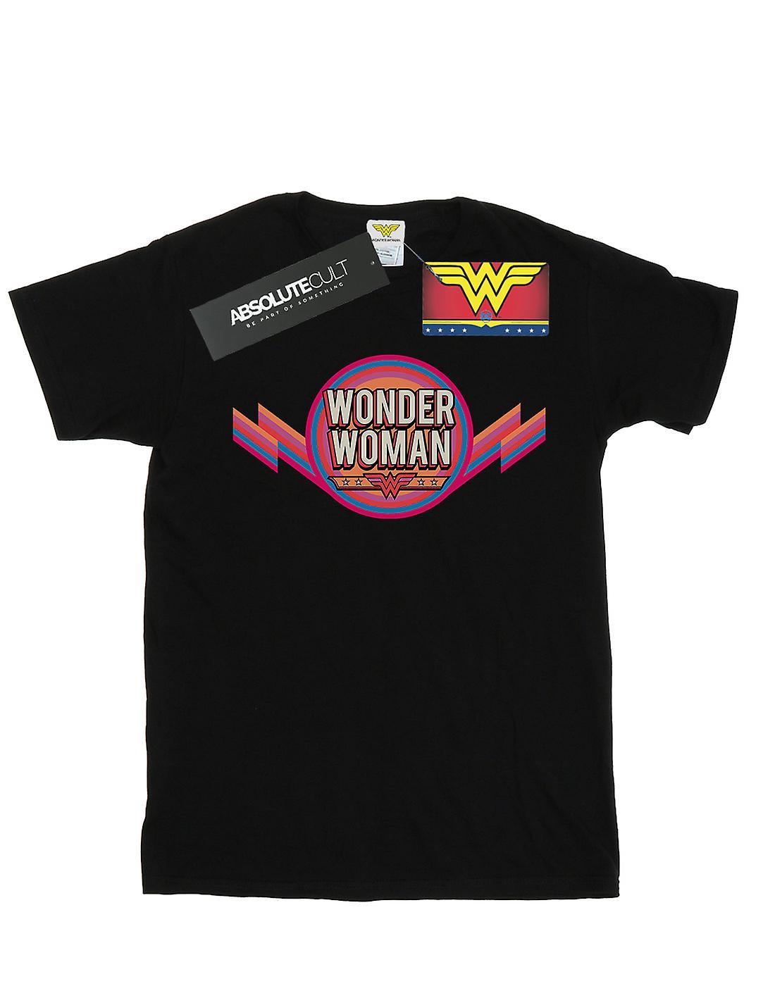 DC Comics Women's Wonder Woman Rainbow Logo Boyfriend Fit T-Shirt