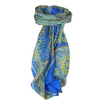 Classic Paisley Praça cachecol Mulberry karenleticia seda azul francês por Pashmina & seda