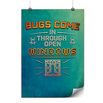 Matte or Glossy Poster with Bugs Programming Geek | Wellcoda | *y3541