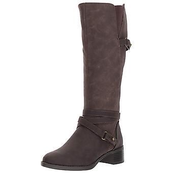 Einfache Straße Womens Carlita geschlossene Zehe Mode kniehohe Stiefel
