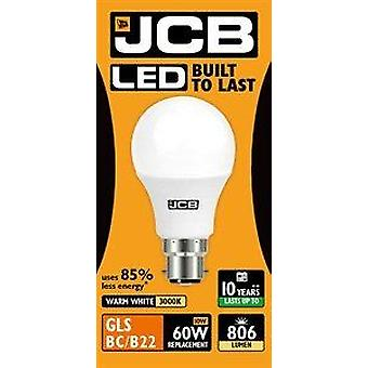 1 X JCB 10W 3000K Warm-White LED GLS Light Bulb BC/B22Matt 806[Energy Class A+]